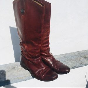 Frye  Melissa Button Tail leather riding boots.